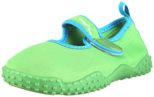 Playshoes Kinder Aquaschuhe, Badeschuhe klassisch mit UV-Schutz, 18/19, Grün (Grün 209)