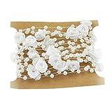 Outgeek 16.4ft Perle String Pearl Flower dekorative Perlen Bead Kette Hochzeit Dekor