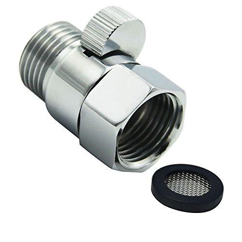 Top-ventil Regler (lumenty Dusche Head Absperrventil aus massiver Messing mit Kurz Schalter und Messing Griff für Dusche Head Handbrause Universal Ersatzteil poliert chrom)