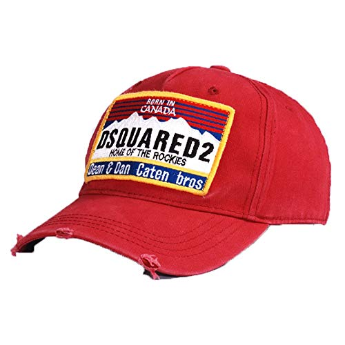 HXXBY Gezeitenmarke Hut Männer Vier Jahreszeiten Schwarz-Weiß-Schirmmütze Baseball-Cap Koreanische Version der Flut Jugend Sonnenhut lässig Wilde Kappe Student Sport Hut Hip-Hop-Hut (Color : Red) (Nike Womens Hut Pink)