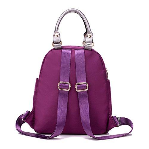 Casual Oxford Tuch Schultertasche Nylon Rucksack Handtaschen Mode Taschen Purple