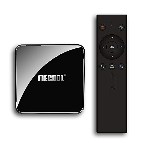 Docooler MECOOL KM3 Smart Android 9.0 TV Box Media Player Amlogic S905X2 4GB + 64GB Dual WiFi BT 4.0 Fernbedienung Vocale Miracast Airplay -