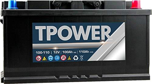 100Ah Leisure Batteria by TPower 100Ah C20 / 110Ah C100