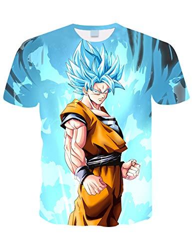 Camiseta Dragon Ball Niño 3D Impresión Hombres Mujer Camisetas y Camisas Unisex Deportivas Camisetas de Manga Corta Dibujos Animados de Fans Streetwear T Shirt Camisetas de Verano (TXU-153, XXS)