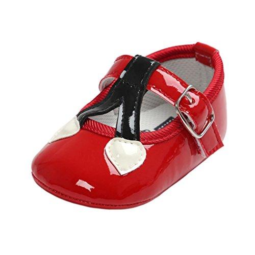 FEITONG Baby Kirsch Prinzessin Weiche Sole Schuhe Kleinkind Turnschuhe Beiläufige Schuhe (13, Gold) Rot
