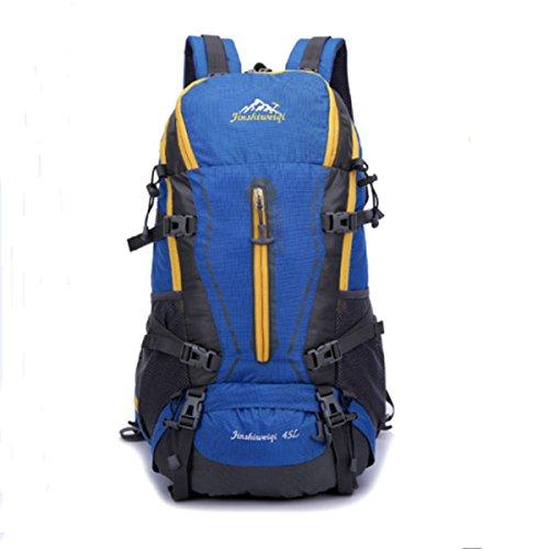 Outdoor Zaino Grande Capacità 50L Viaggi Alpinismo Borsa Con Pioggia La Copertura,Blue-OneSize Blue