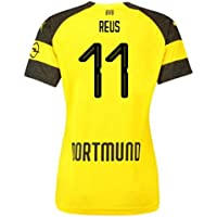 2018-2019 Borussia Dortmund Home Ladies Puma Football Soccer T-Shirt Camiseta (Marco Reus 11)