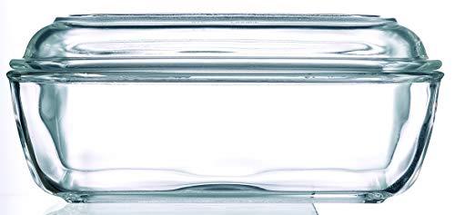 Arcoroc ARC 73115 Helper Butterdose, 10,5x17cm, Glas, transparent, 1 Stück - Wand Teller Stehen