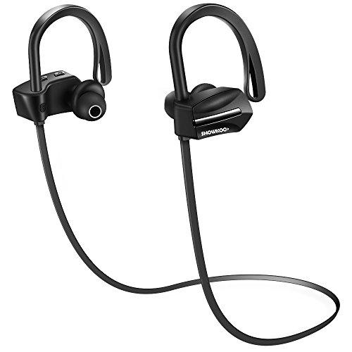 Auriculares Bluetooth 4.1 Inálambricos, SHOWKOO SK-08 Auriculares a prueba de sudor In...