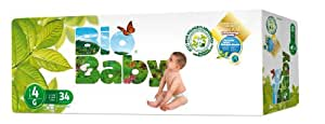 Bio Baby Biodegradable Nappies Size 4 - Pack of 34