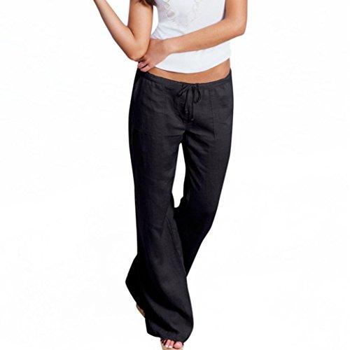 Femme Pantalon Décontracté,Covermason Femmes d'été Harem Pantalons Occasionnels Pantalon Jambe Large Casual Pantalons (Noir, M)