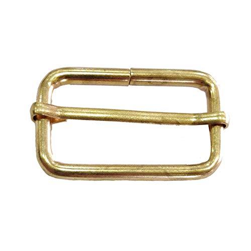 38-mm-Triglide-Gold-Schließe für Gurtbandriemen, Rucksack, Verschlüsse, Halsbänder und Zubehör für Taschen, strapazierfähig, leicht, 2 Stück -