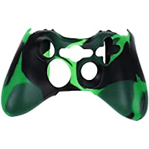SODIAL(R) Funda Cubierta de Silicona Anti-Reflejo para Controlador Mando de Xbox 360 (verde+azul)
