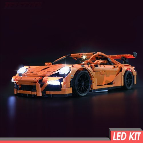 Handcraft Brick Group LED Licht Kit für Lego Porsche 911 GT3 RS - Light 42056 - Led Brick Licht