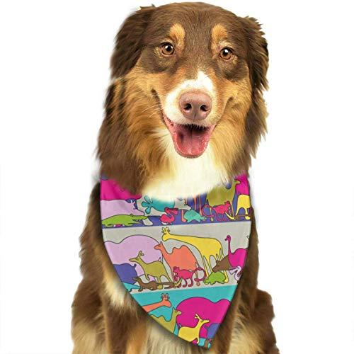 hanjianqu Funky Animals Pattern Stylish Dog Bandanas Pet Dog Cat Neckerchief Dog Scarf