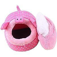 Wuwenw Cama para Mascotas Caseta para Perros Diseño De Forma De Cerdo Y Oveja Perrera De