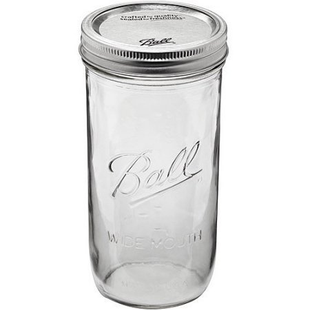 Ball 9-Count 24-Ounce Wide Mouth Jars with Lids and Bands by Ball 24 Oz Wide Mouth