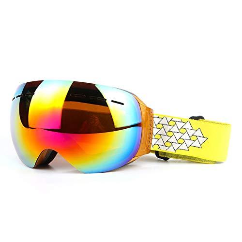 MaxAst Sonnenbrille Brille Motorrad Winddicht Unisex Schutzbrille Antibeschlag Gold