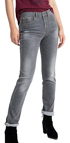 H.I.S Marilyn Jeans in Slim Fit für Damen / Hellgraue Jeans mit enger Passform und Outrageous Waist / Denim Hose in Größe 40/31