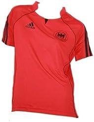 adidas DHB GER FED 613529–Camiseta de balonmano para) Rojo/Negro, todo el año, color rojo, tamaño 38 [DE 36]