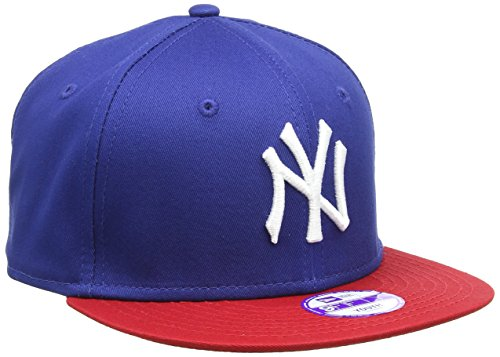 New Era Jungen Baseball Cap Mütze MLB 9 Fifty Block NY Yankees Snapback, Blau (Navy-Red), One size, 10880042 -