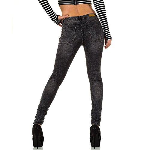 iTaL-dESiGn - Jeans - Skinny - Femme gris foncé