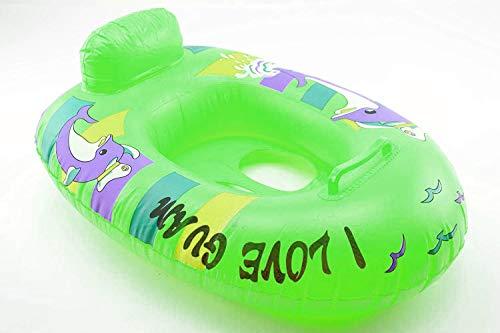 OKCS Gummiboot für Kinder Schlauchboot Pool Schwimmen Strandboot Junior Schwimmbad Badespaß - in Grün