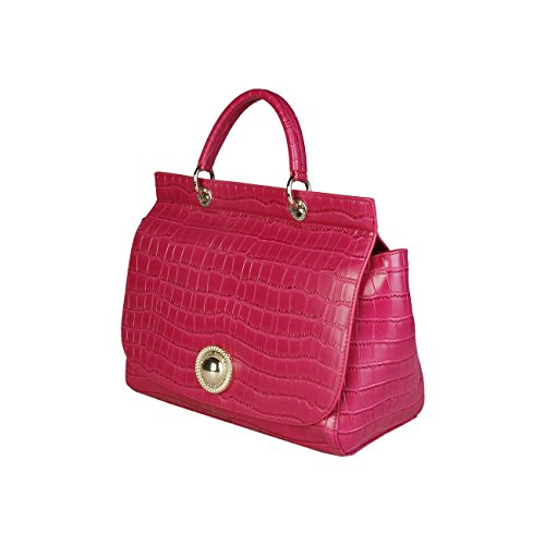 Versace Damen Ee1vpbbc3_e75587 Henkeltasche, 14 x 26 x 31 cm Fuchsia