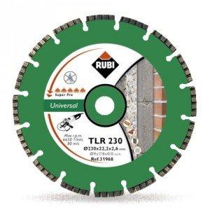 RUBI - DISCO DIAMANTE SEGMENTADOS TLR 230 SUPERPRO