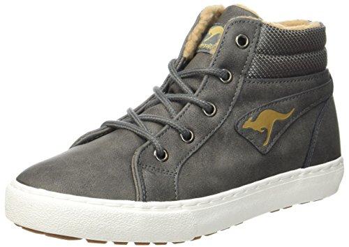 KangaROOS Unisex-Kinder Kavu I Hohe Sneaker, Grau (Dk Grey/Sand), 39 EU