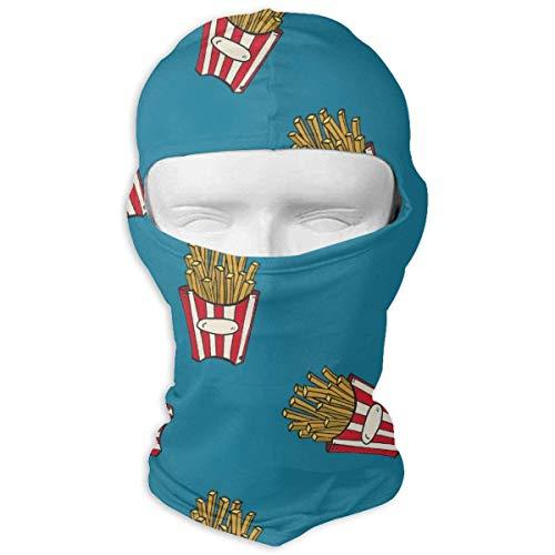 Junk-Food-Pommes-Frites-Muster-winddichte Gesichtsmaske atmungsaktiv für Radfahren Skifahren Wintersport