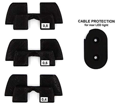 Qualità di stampa 3D gomma ammortizzatore vibrazioni, LED della modifica Parts per Xiaomi Mijia M365M187monopattino elettrico, Nero