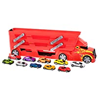 Teamsterz Launcher Transporter + 10 Die-cast Cars | Kids Toy Vehicles Great For Children Aged 3+