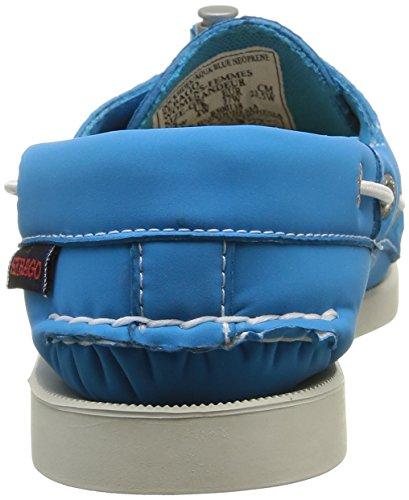 Sebago Damen Docksides Bootsschuhe Blau (AQUA BLUE NEOPRENE)