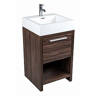 Aquariss Badmöbel Badezimmermöbel Waschbecken Unterschrank Freistehend 500mm Walnuss