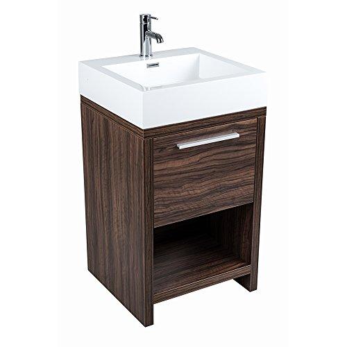 luxury walnut 500mm floorstanding bathroom vanity. Black Bedroom Furniture Sets. Home Design Ideas