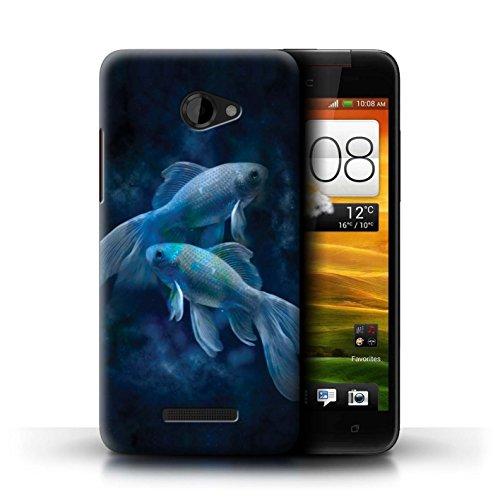 Stuff4 Hülle / Case für HTC Butterfly / Fische/Pisces Muster / Tierkreis Star Schild Kollektion (Fisch Butterfly)