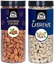 WONDERLAND FOODS (DEVICE) Premium Dry Fruits Combo Pack of (500g Almonds + 500g Cashews, 1 Kg)