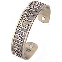 Teamer Viking Melodien Magnettherapie Armband Antik Remasuri/Bronze/Kupfer Schmerzlinderung Armreif Best Geschenke preisvergleich bei billige-tabletten.eu