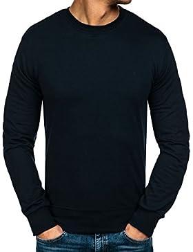 BOLF – Felpa –Sweat-shirt – Pullover – Scollo rotondo – Classic – Uomo – 1A1