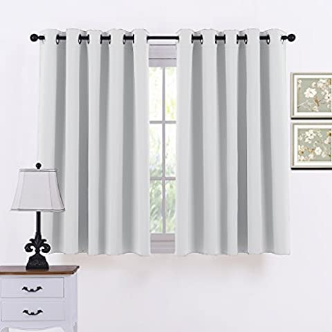 Ponydance Thermal Insulated Top Rings Room Darkening Curtains Drapery for Bedroom,66