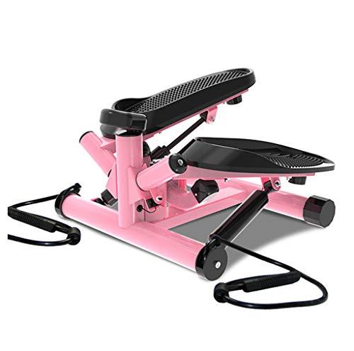 TB Stepper Mini-Multifunktionstovepipe-Eignungs-Ausrüstung, Stepper-Ausgangsdämpfer in situ Pedal-Maschine (Farbe : Rosa)