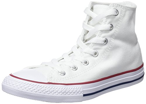 Converse Unisex-Kinder Chuck Taylor All Star Core High Sneaker, Weiß, 31.5 EU (Converse Girls High Tops)