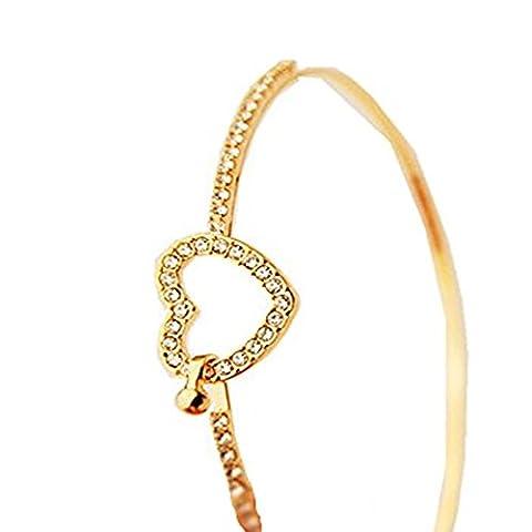 OVERMAL La Mode Strass - Style Bracelet En Or Amour Coeur Bracelet Bijoux