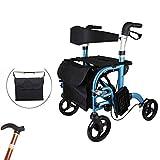 Leggero pieghevole bicicletta, 4 ruote sedile con pedali Deluxe Edition 2 in 1 sedia a rotelle, canna, regolabile altezza di stoccaggio pieghevole, accessibile alla mobilità attrezzature ausiliarie