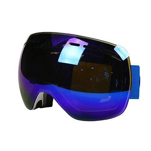 Exquisite Doppel-Skibrille für Herren und Damen, Professionelle UV400 Snowboard-Schutzbrille, UV-Schutz, Blau