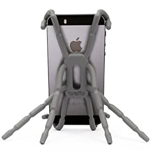 Breffo Spiderpodium Flexible Grip/Mount Car Phone Holder and Dock incl. all iPhone, Samsung, Sony, HTC, Nokia, Huawei, Moto – Graphite