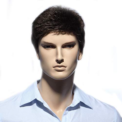 Herrenwig, Natural Short Hair, geeignet für den täglichen Gebrauch,Darkbrown