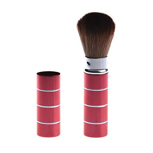 QINPIN Kosmetik Make-up Pinsel Teleskopbürste aus Metall Foundation Augen Concealer Einfach zu tragen für Tasche Pinsel Kosmetikpinsel Concealer Rouge Tools Rot