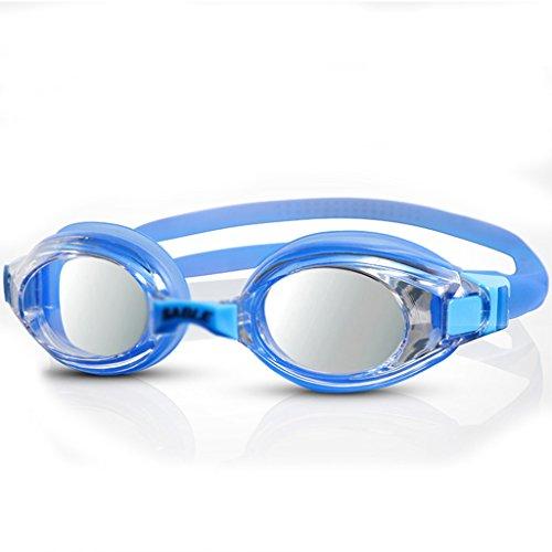Jia He Taucherbrille Schwimmen Gläser Anti-UV-Anti-Fog wasserdicht HD Männer und Frauen erhältlich Erwachsene professionelle Ausbildung Schutzbrillen Schwimmen Ausrüstung (Farbe : D) -